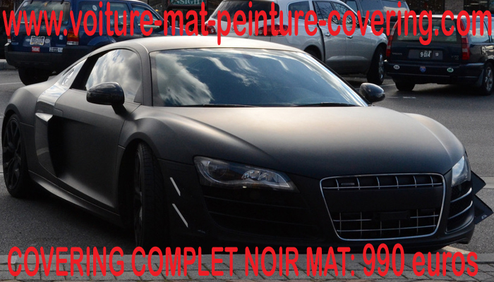 audi r8 noir mat audinoirmatpeinturecovering. Black Bedroom Furniture Sets. Home Design Ideas